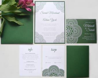 Mehndi Invitations | Indian | Henna | Customizable | Sangeet