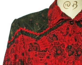 Bespoke Sugarskulls western shirt