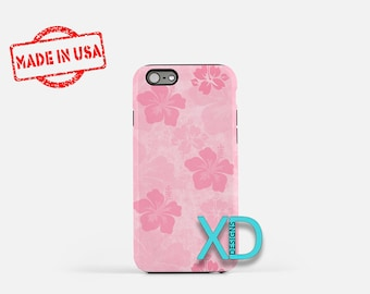 Pink Hibiscus iPhone Case, Flower iPhone Case, Hibiscus iPhone 8 Case, iPhone 6s Case, iPhone 7 Case, Phone Case, iPhone X Case, SE Case