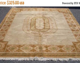 YEAR END CLEARANCE 1970s Vintage, French-Style Aubusson/Savonnerie Rug (1229)