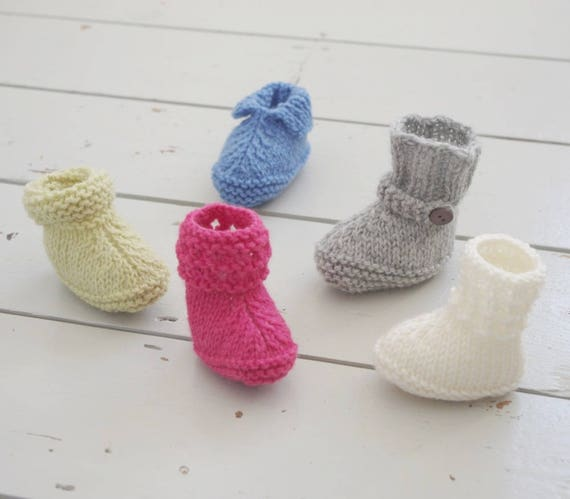 Five Styles Easy Baby Booties Quick Knitting Pattern Babies Shoes
