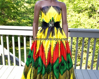 Ghana colors/ Plume Java African Fabric, 6 yards/ ankara fabric/ African Clothing fabric/ African fabric/ African Wax Print/ 6 yards WP1028