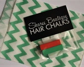 Red & Green Christmas Hair Chalk Stocking Stuffers - Christmas Gift - Temporary Hair Color