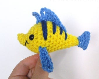 Ready-made Fishy Friend Crocheted Toy