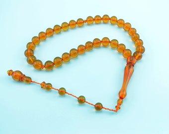 Honey color 33pcs Islamic Prayer Beads Misbaha Rosary Tesbih misbaha 401021