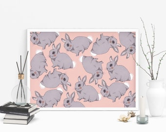 Bunny Pattern Print