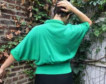80s Vintage Green Polo