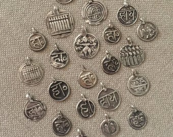 23 Indian silver Talisman amulets
