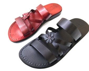 Leather Sandals, IRIS, Womens Shoes, Jesus Sandals, Flip Flops, Slides, Slippers, Biblical Sandals