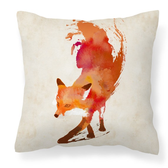 Fox cushion,fox cushion cover,red fox cushion,animal print cushion,fox pillow / throw pillow case for sofa/home/bedroom - 18'' (45cm) Vulpes