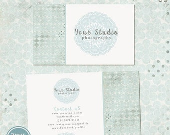 ON SALE Business Card Template, Photographers, Photography Design - INSTANT Download