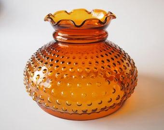 Amber Glass Hobnail Lamp Shade