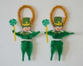 St Patrick's Ornaments / Chenille Ornaments / Set Of 2