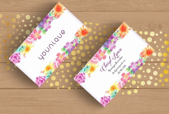 younique consultant business card template layered psd no 1 watercolor flowers floral editable. Black Bedroom Furniture Sets. Home Design Ideas