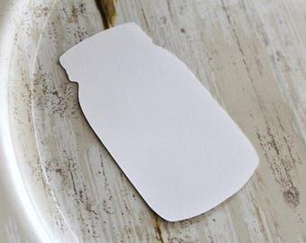 BLANK MASON JAR Die Cut, Paper Tag, Gift Tag, Blank Tags, Crafts, Blanks