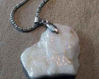 "20"" White Agate Necklace"