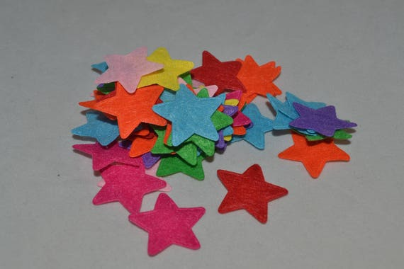 50 Star felt shapes