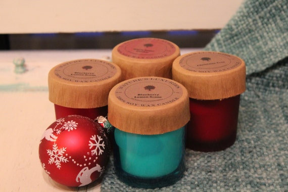 Warm Sugar Cookie Limited Edition Red or Aqua 7 oz Jar 100% Soy Candle
