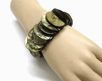 Mother of Pearl Bracelet Vintage / 70s fashion accessoires