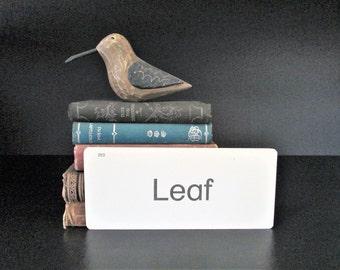 Vintage Flash Card Leaf