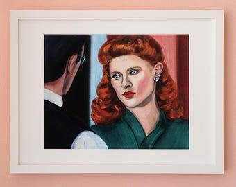 Limited Edition Fine Art Print Couple Love Redhead Beautiful Woman