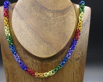 Rainbow Byzantine Necklace