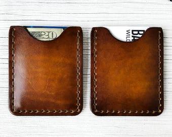 Leather Wallet, Front Pocket Thin Men's Wallet, Personalized - BUY IT ONCE - Men's or Women's Wallet, 3 Initials - Slim Minimalist Wallet