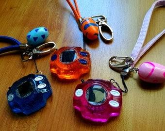 Digimon digivice keychain strap