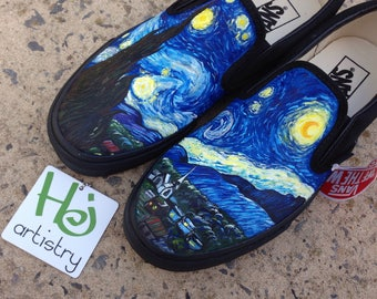 Starry Night shoes. Starry Night Vans. Starry Night Converse. Starry Night Toms. Vincent Van Gogh Inspired Shoes