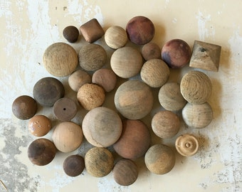 Vintage • Lot • Wooden Knobs