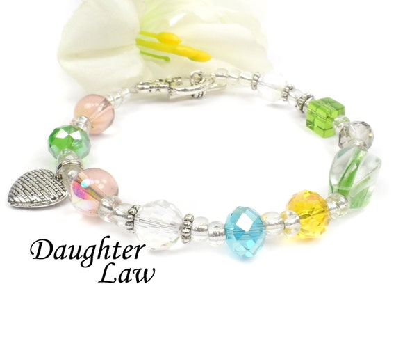Unique Wedding Gifts For Son And Daughter In Law : Daughter in Law Bracelet, Unique Gift For Sons Wife, Daughter In Law ...