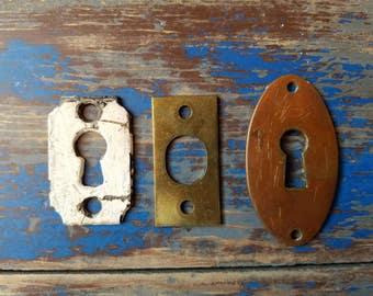 Antique KEY HOLE Latch Plate BRASS