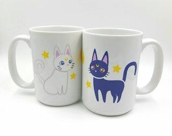 Luna and Artemis Mug
