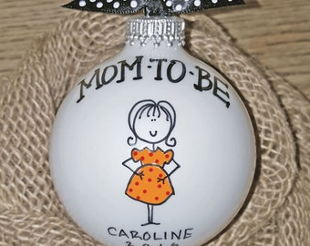 Mom To Be Personalized Ornament, Personalized Mom To Be, Expectant Mom Ornament, Personalized Mom To Be Ornament, Pregnant Ornament