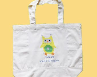 Owls are Special & Magical Canvas Tote Bag