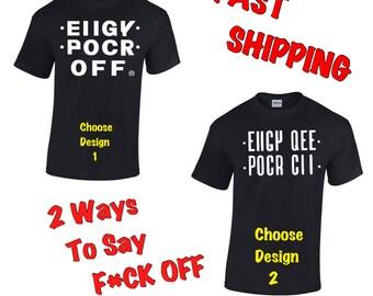 Unisex Hidden Message Free Shipping EIIGY POCR OFF®