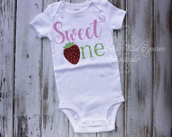 First Birthday Strawberry Sweet One Outfit- Strawberry Birthday- First Birthday Outfit- Sweet Birthday- 1st Birthday- One- Cake Smash Outfit