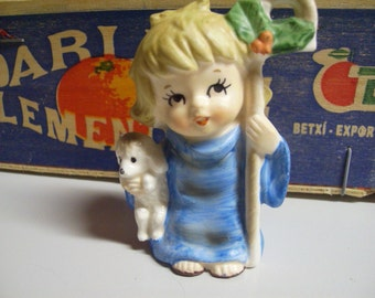 Girl Lamb Figurine Etsy
