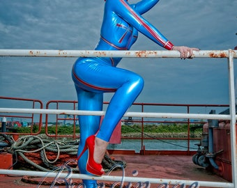 Aviator Latex Rubber Catsuit
