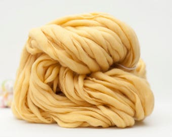 Hand Spun Yarn - Thick and Thin Yarn - Hand Dyed Yarn - Dyed Wool – Dyed Wool Yarn – Merino (#275)