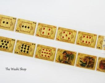 Vintage Alice in Wonderland Playing Cards Washi Tape(30mm x 5m)