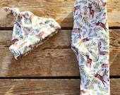 Reserved for Jackie Woodland Deer Hat & Pants, Set, Stretchy, Newborn, Infant, Baby, Leggings, Antler, Soft, Gift