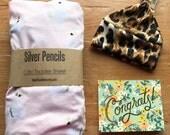Crib Sheet, Swans,Gold, Blush, Pink, Princess, Fairy Tale, Diaper, Baby Shower, Gift, Newborn, Girl