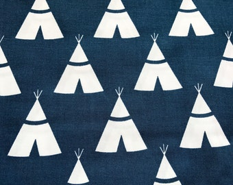 Changing Pad Cover, Navy, Teepee, Blue, White, Adventure, Diaper, Baby Shower, Gift, Newborn, Boy