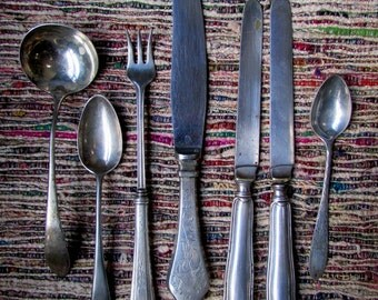 AnTique LOT Miscellaneous Silverware ~ Some Sterling
