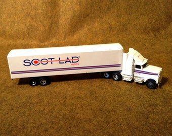 Vintage ERTL cast Toy Semi Truck for Scot Lad Foods - Cast Metal - Subsidiary of Roundy's