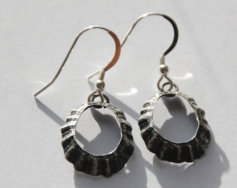 Porthmeor St Ives Oxidised Limpet Drop Earrings *NEW*