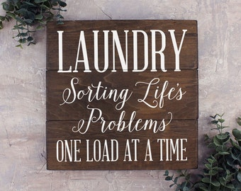 Laundry Sorting Life's Problems Laundry Room Decor Rustic Laundry Sign Laundry Room Sign Laundry Room Art Rustic Laundry Decor