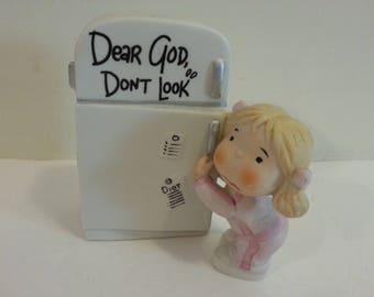 1982 Dear God, Don't Look porcelain figurine