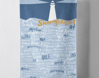 And now the Shipping Forecast Tea Towels